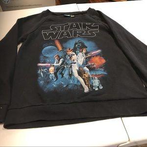 Crew neck Star Wars sweatshirt.